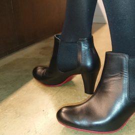 7cmヒールショートブーツ